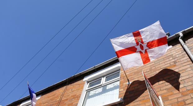 Flags for the Euros on Iris Drive on June 02 2016 in Belfast , Northern Ireland ( Photo by Kevin Scott / Belfast Telegraph)