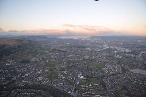 The view from the PSNI's air support.