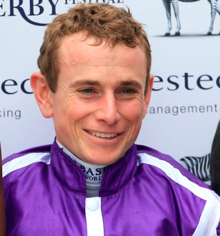 Prize guy: Ryan Moore after the race