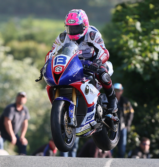 Fast mover: Lee Johnston turns on the power at the Isle of Man TT this week