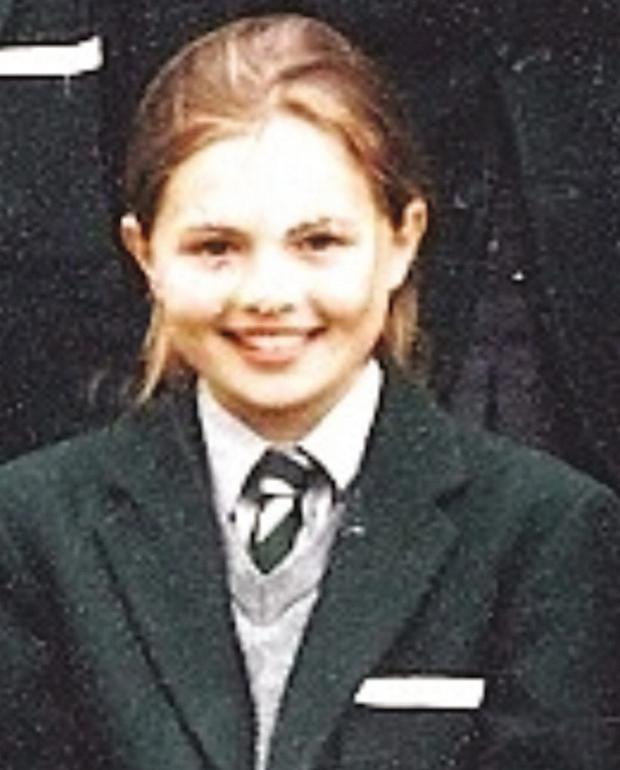 Young tomboy: Tiffany Brien as a Rockport pupil