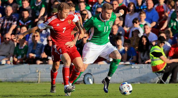 In the running: James McClean wants to play a key role for the Republic in France, but was criticised by Roy Keane after the shock defeat to Belarus