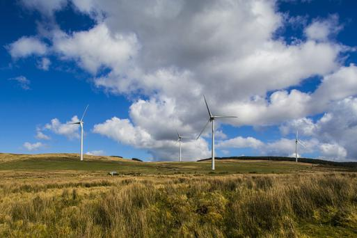 The Monnaboy wind farm outside Eglinton in Co Londonderry