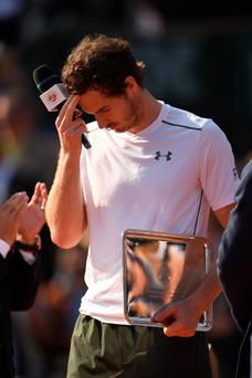 Second best: Andy Murray finished runner-up at the French Open