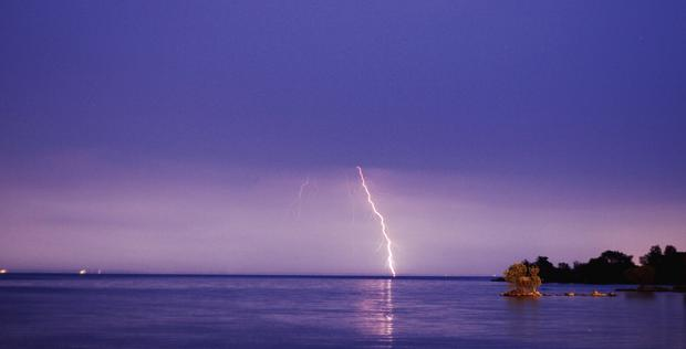 Lightning over Lough Neagh. Picture by Conar McDonald