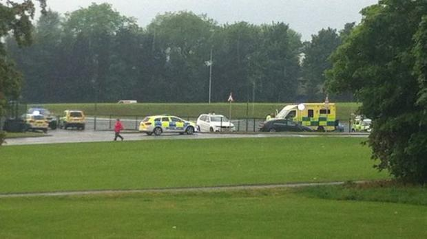 Lisburn lightning strike leaves man and young boy in hospital