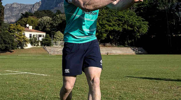 Summit special: Ulster's Andrew Trimble in shadow of Cape Town's famous Table Mountain ahead of Ireland's first Tour game on Saturday