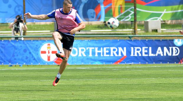 Rise: Conor Washington played for St Ives Town during the last Euros in 2012