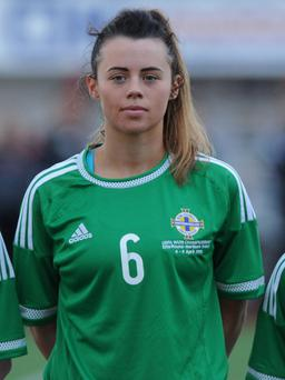 Off target: Laura Rafferty couldn't hit the net for Northern Ireland