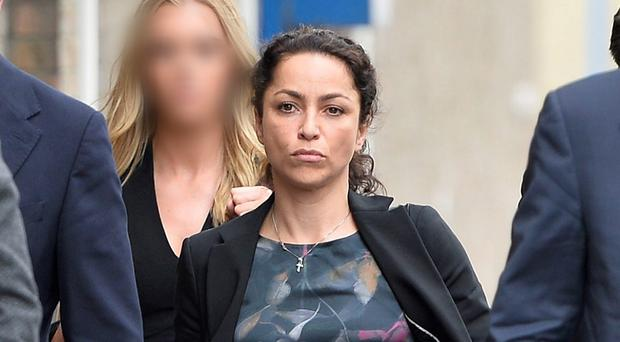 Former Chelsea FC doctor Eva Carneiro arrives at the tribunal yesterday