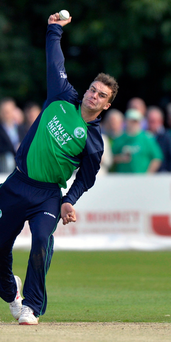 Bowling them over: Skipper Andy McBrine has been in top form for Ireland A against Scotland A