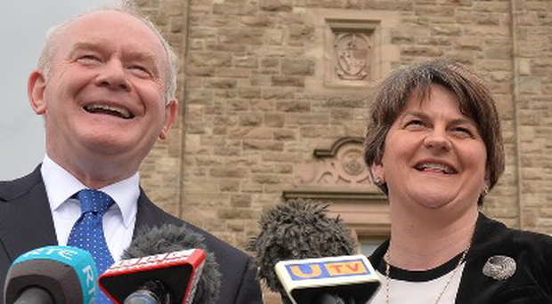Martin McGuinnes and Arlene Foster are said to both be attending games but it's not known if they will attend the same ones. Pic Colm Lenaghan/Pacemaker