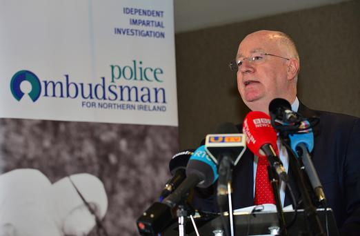 Loughinisland: Ombudsman Dr Michael Maguire confirms collusion between police and loyalist killers. Picture By: Arthur Allison.