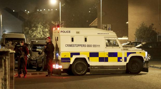 Police at 2am in the Ardoyne Estate close to Jamaica Road after receiving reports that a man had been shot in the area (Photo by Kevin Scott / Belfast Telegraph)