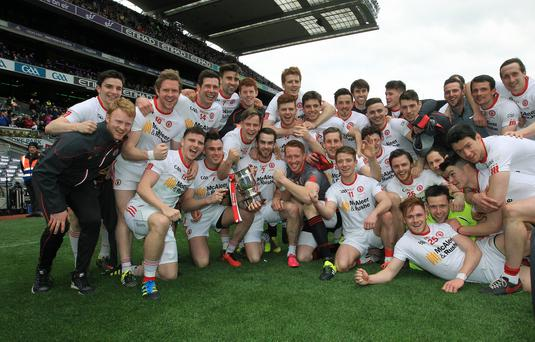 Different league: Tyrone were successful in the National League but, according to Peter Canavan, are not equipped for Championship glory