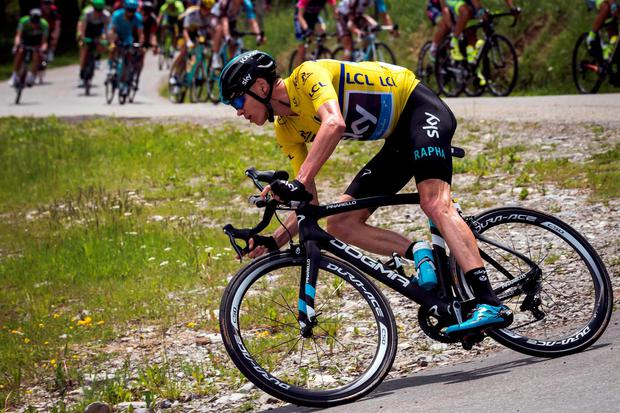 Chris Froome during the last stage of the Dauphine Criterium