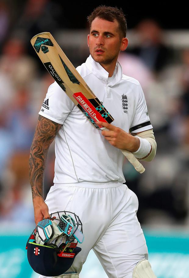 In form: Alex Hales was out for 94 but England are edging closer to the win
