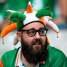 A Republic of Ireland supporter before the UEFA Euro 2016, Group E match at the Stade de France, Paris. John Walton/PA Wire.
