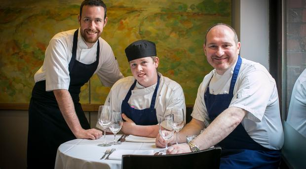 Belfast chef Niall McKenna (right) is taking part in the Taste of London festival. He's joined by James Street South head chef Dave Gillmore (left) and trainee Kevin McParland