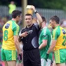 Crying foul: Fermanagh were less than impressed by referee Maurice Deegan and some of Donegal's players