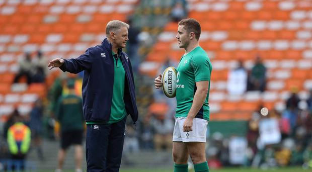 Class act: Paddy Jackson's assured performance in the first Test against South Africa has been hailed by coach Joe Schmidt
