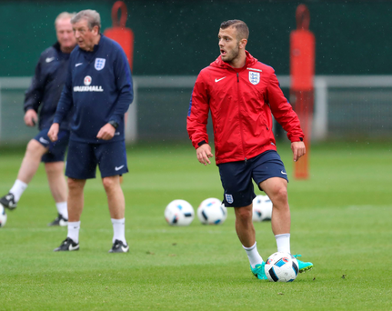 Ready for action: Jack Wilshere in training for England's clash with Wales