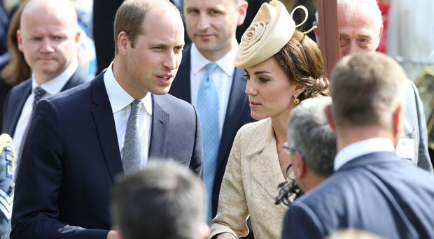 ©Press Eye - Belfast - Northern Ireland - 14th June 2016 The Duke & Duchess of Cambridge hold hands, Guests of Honour are pictured at the Annual Garden Party in Hillsborough Castle, Northern Ireland. Picture by Andrew Paton/Press Eye.com