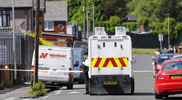 Police at the scene of a Security Alert in the Etna Drive of north Belfast following the discovery of a suspect object Photo by Kevin Scott / Belfast Telegraph