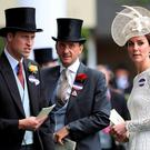The Duchess of Cambridge (right) and Duke of Cambridge (left) during day two of Royal Ascot 2016, at Ascot Racecourse. PRESS ASSOCIATION Photo.