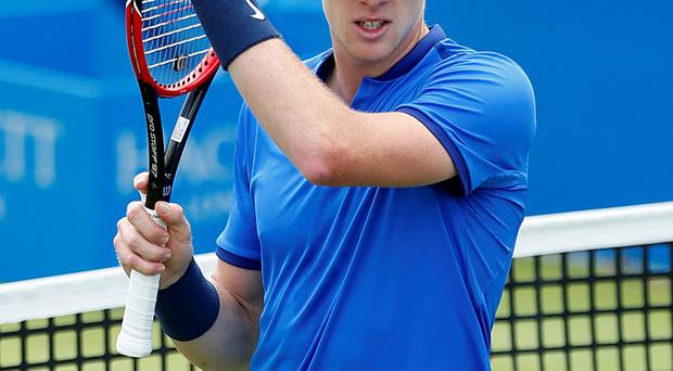 Top form: Kyle Edmund beat World No 18 Gilles Simon