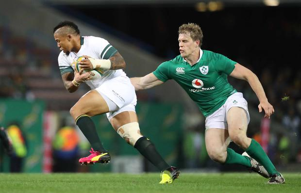 Raring to go: Andrew Trimble knows South Africa will be gunning for revenge