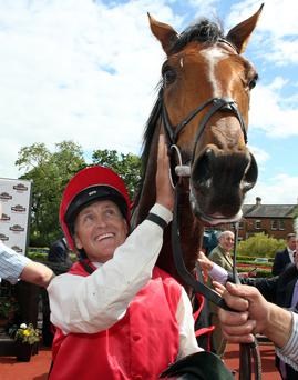 Derby delight: Botany Bay and jockey Niall McCullagh after winning last year's Magners Ulster Derby at Down Royal