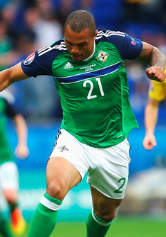 Super sub: Josh Magennis came off the bench to star against Ukraine