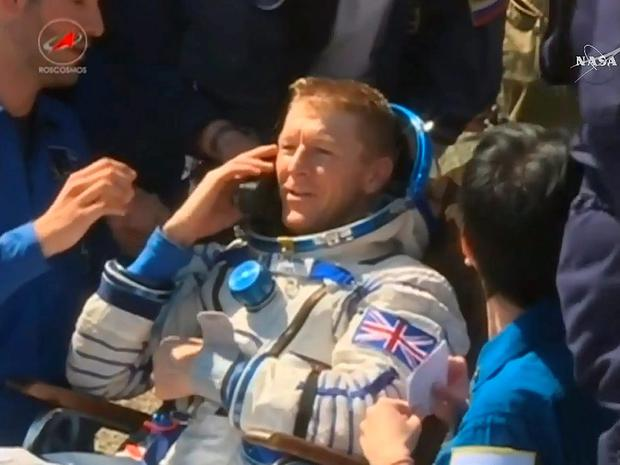 Tim Peake has landed back on earth