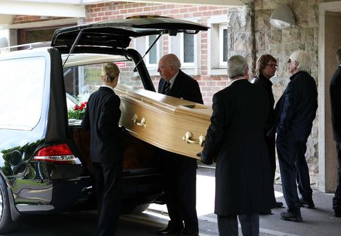 The funeral of guitar legend Henry McCullough takes place. Pic Freddie Parkinson