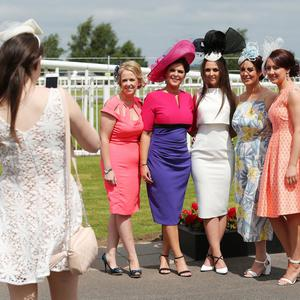 Press Eye - Belfast - Northern Ireland - 18th June 2016 - Down Royal Racecourse Magners Ulster Derby - Summer Festival Day 2 (Saturday) Racegoers pictured at Down Royal Photo by Kelvin Boyes / Press Eye.
