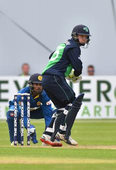 Run search: All-rounder Andy McBrine scored an impressive 79 against Sri Lanka