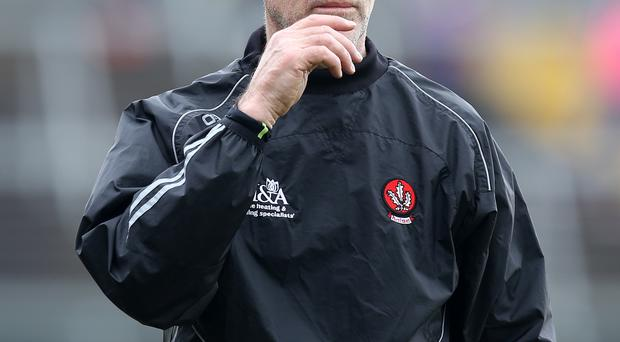Back on form: Derry boss Damian Barton saw his side defeat Louth