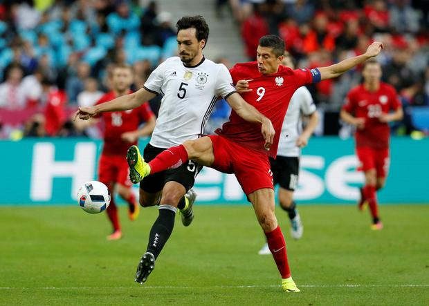 Vigilant approach: Germany's Mats Hummels is aware that Northern Ireland will be no pushovers ahead of their clash in Paris tomorrow night
