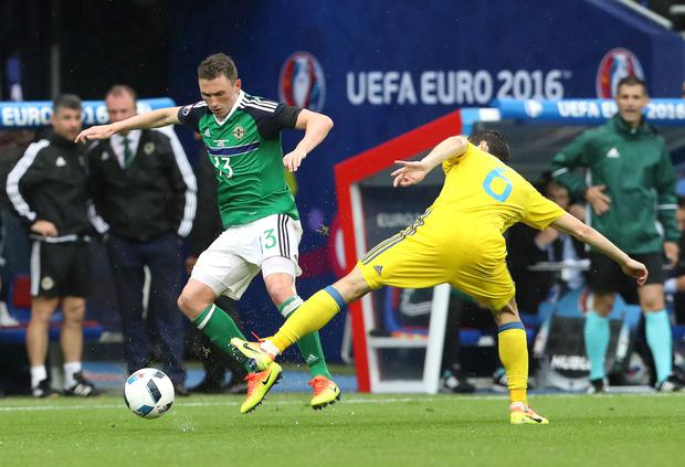 Top marks: Corry Evans received deserved plaudits for his display against Ukraine