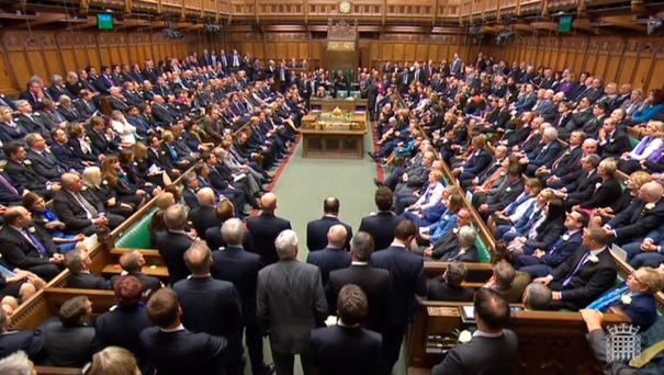 MPs gather in the House of Commons, London, to pay tribute to Labour MP Jo Cox.