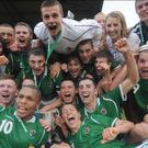 Daring to dream: The Northern Ireland Milk Cup winners from 2009 featuring Howard Beverland (far left), Josh Magennis, Corry Evans , Oliver Norwood and Conor McLaughlin
