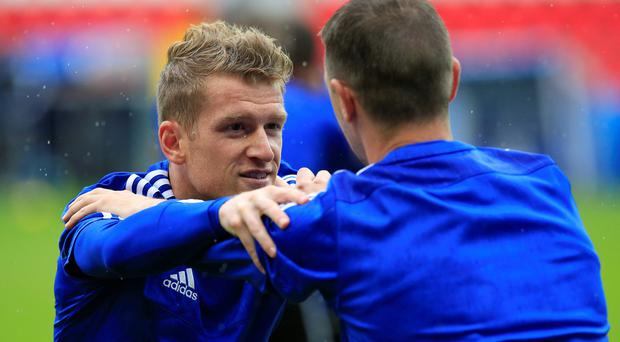 Good place: Steven Davis predicts Northern Ireland will have to play even better than against Ukraine to get anything from the game with Germany