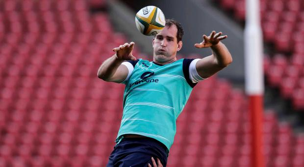 Caught cold: Devin Toner has called for Ireland to be more composed in the third and final test on Saturday