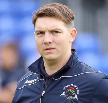 Fired-up: Institute manager Kevin Deery is ready for play-off battle