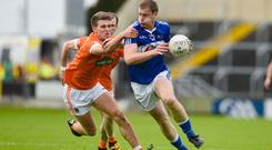 Play it again: Armagh's Shea Heffron (left) and Donal Kingston of Laois at O'Moore Park