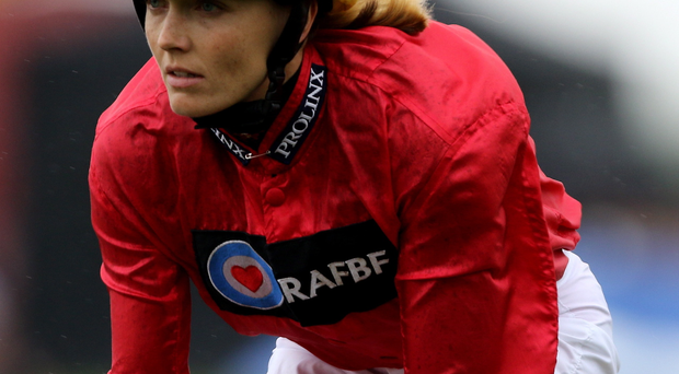 V for victory: Double Olympic cycling champion Victoria Pendleton won on board Royal Etiquette at Newmarket yesterday