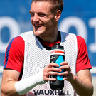 England's Jamie Vardy is staying with Leicester City