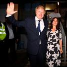 Boris Johnson and his wife Marina leave after casting their votes at Hanover Primary School in north London, as voters head to the polls across the UK in a historic referendum on whether the UK should remain a member of the European Union or leave.