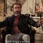 Eric Cantona sings Will Grigg's on fire chant